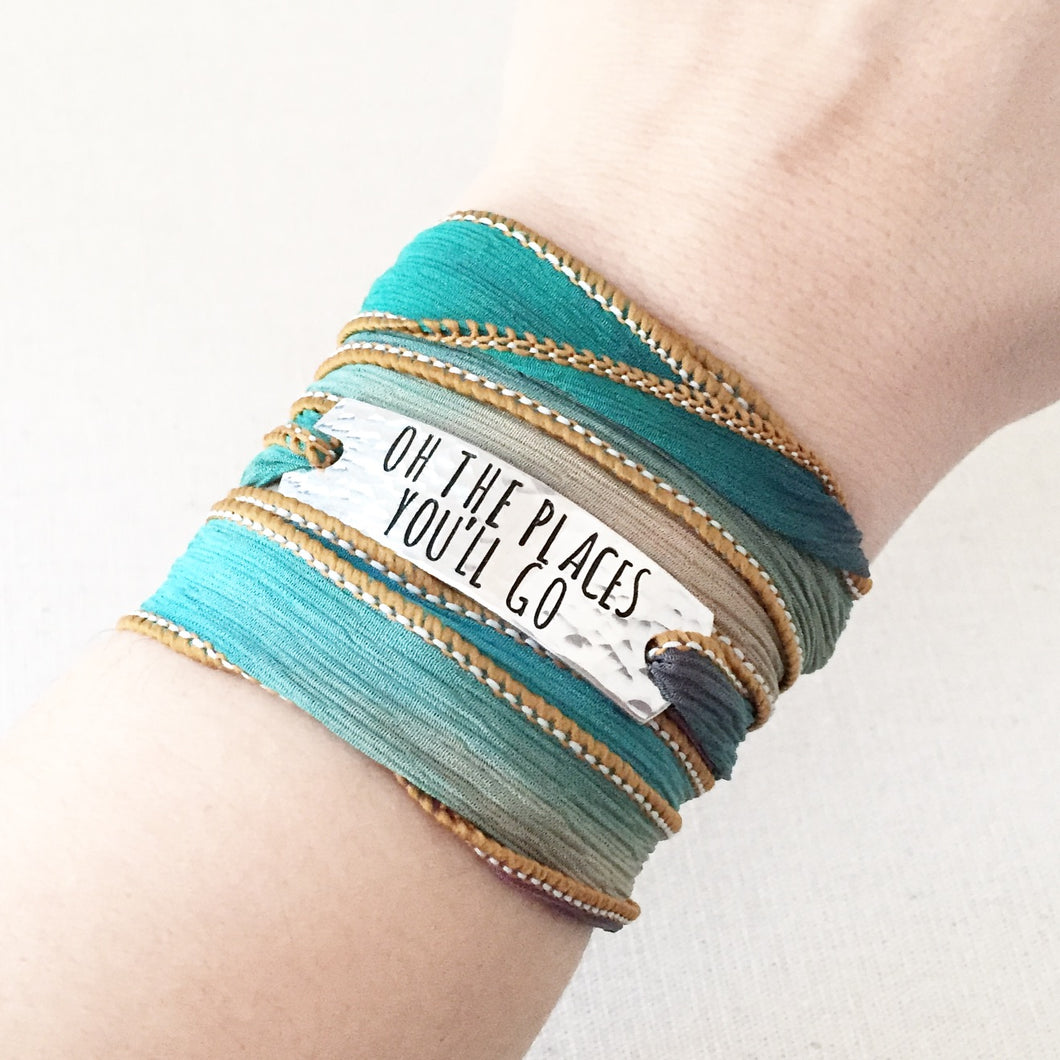 Places You'll Go Silk Wrap Bracelet WC22