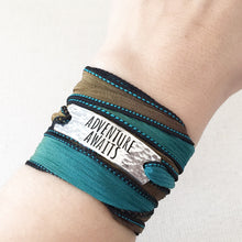 Load image into Gallery viewer, Adventure Awaits Silk Wrap Bracelet WC107