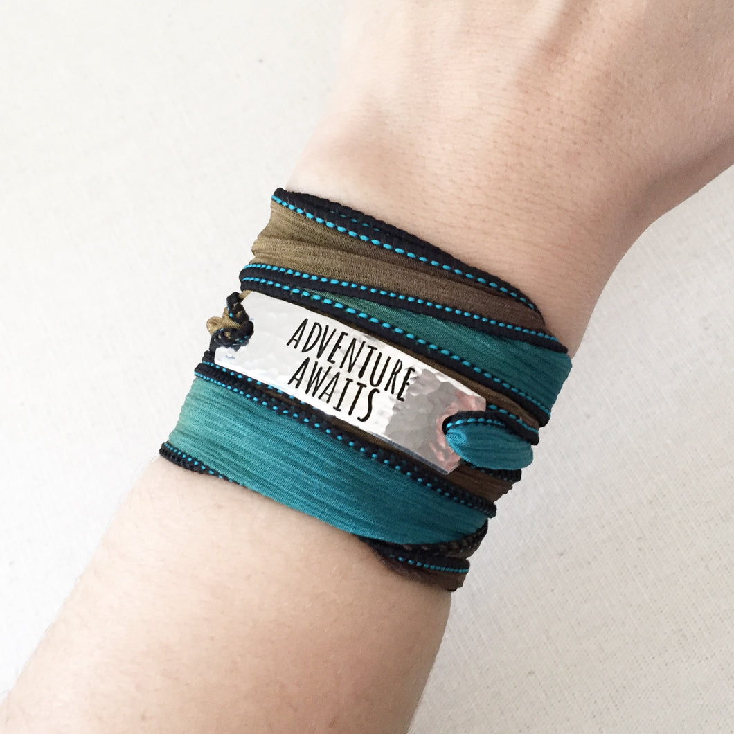 Adventure Awaits Silk Wrap Bracelet WC107