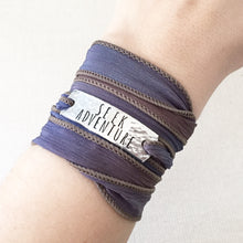 Load image into Gallery viewer, Seek Adventure Silk Wrap Bracelet WC24