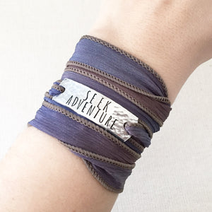 Seek Adventure Silk Wrap Bracelet WC24
