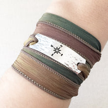 Load image into Gallery viewer, Compass Silk Wrap Bracelet WC8