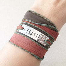 Load image into Gallery viewer, Travel Silk Wrap Bracelet WC26