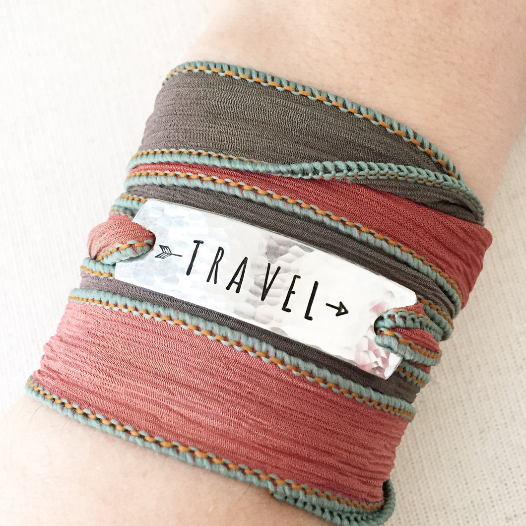 Travel Silk Wrap Bracelet WC26