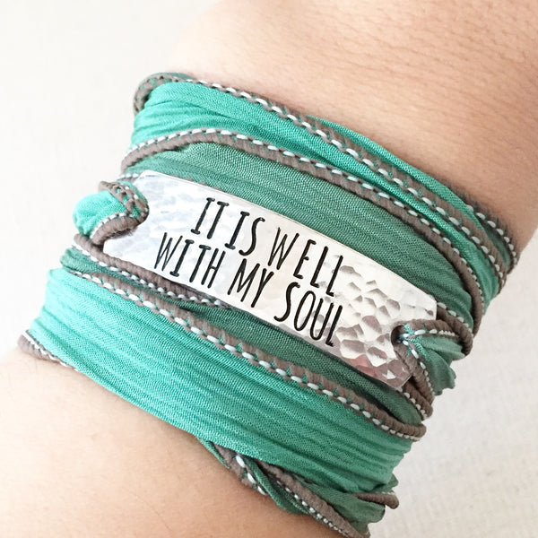 It Is Well With My Soul Boho Wrap Bracelet