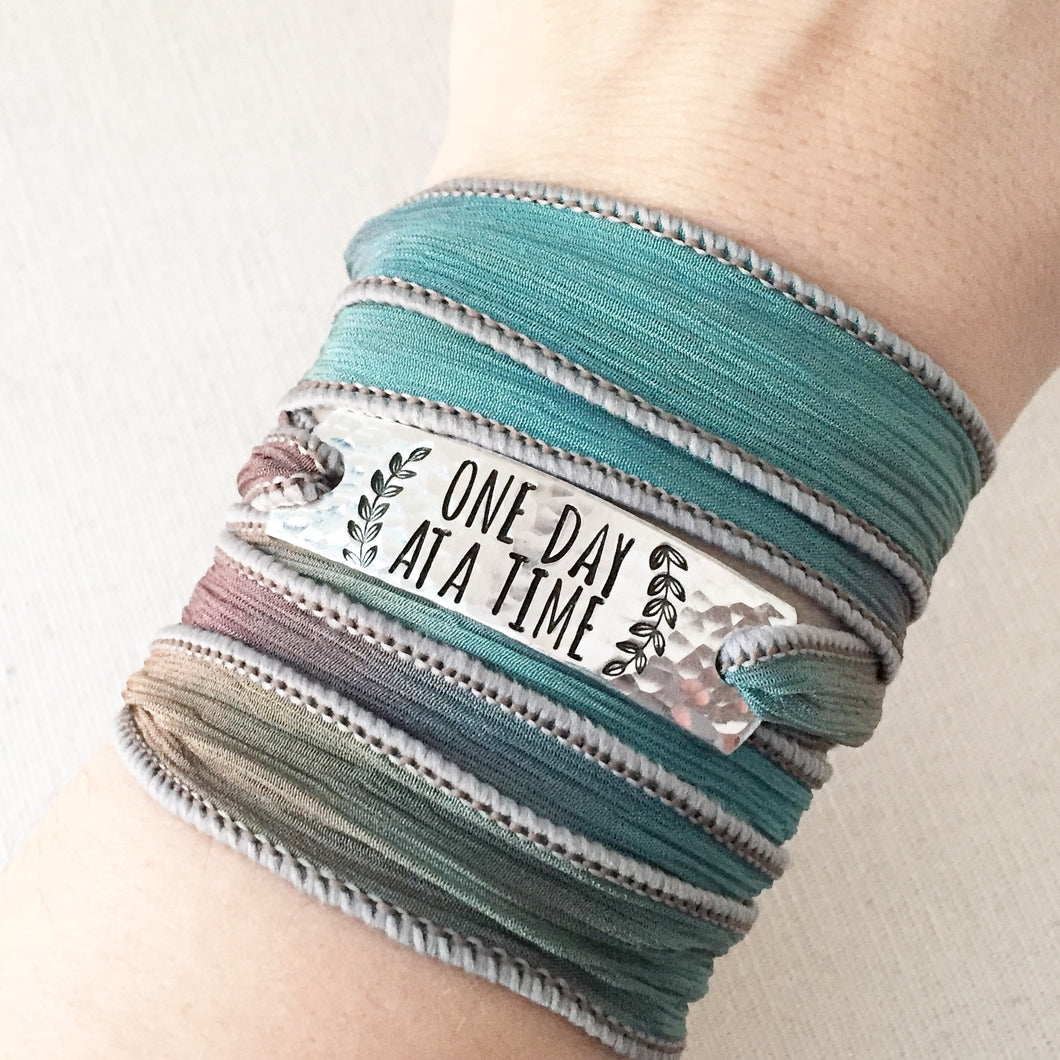 One Day At A Time Silk Wrap Bracelet WC45