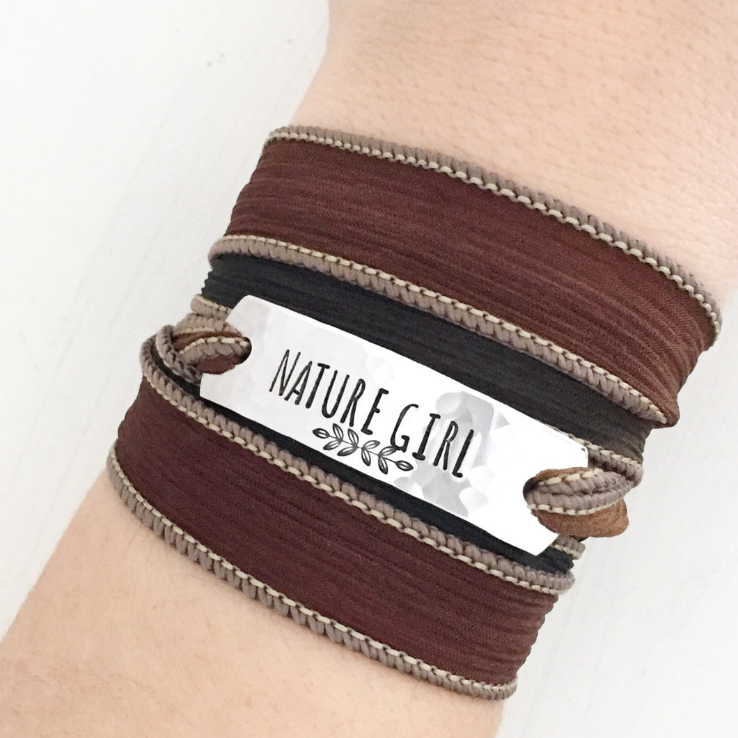 Nature Girl Silk Wrap Bracelet WC2