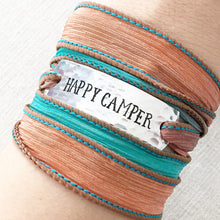 Load image into Gallery viewer, Happy Camper Silk Wrap Bracelet WC42