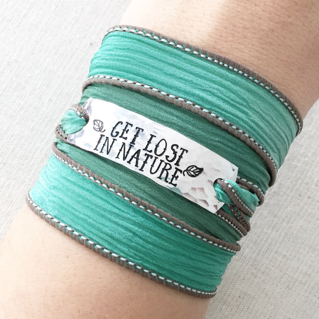 Get Lost In Nature Silk Wrap Bracelet WC12