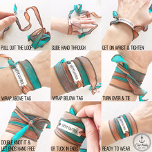 Load image into Gallery viewer, Just Breathe Silk Wrap Bracelet WC38