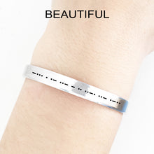 Load image into Gallery viewer, Beautiful Morse Code Cuff