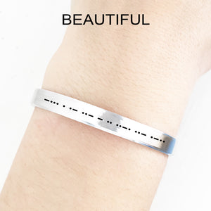 Beautiful Morse Code Cuff