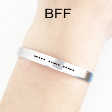 Load image into Gallery viewer, BFF Morse Code Cuff
