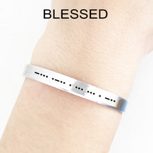 Load image into Gallery viewer, Blessed Morse Code Cuff