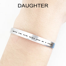 Load image into Gallery viewer, Daughter Morse Code Cuff