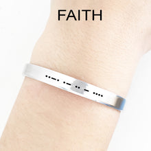 Load image into Gallery viewer, Faith Morse Code Cuff
