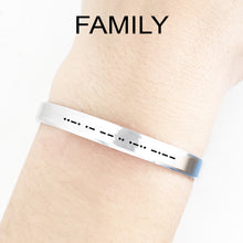 Load image into Gallery viewer, Family Morse Code Cuff