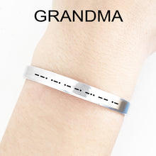 Load image into Gallery viewer, Grandma Morse Code Cuff