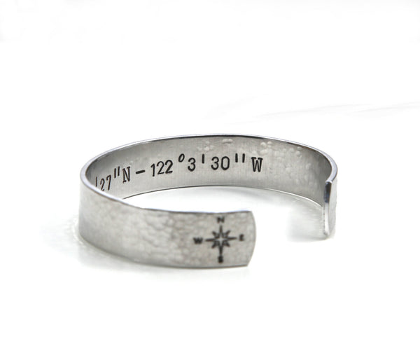 coordinates jewelry, coordinates bracelet, personalized jewelry, personalized gifts, clair ashley