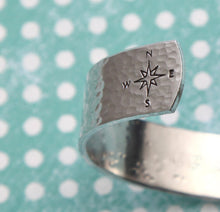 "Load image into Gallery viewer, 1/2"" Coordinates Aluminum Cuff"