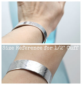 "Design Your Own 1/2"" Aluminum Cuff"