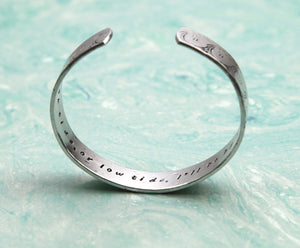 "Design Your Own Hand Stamped 1/2"" Aluminum Cuff"