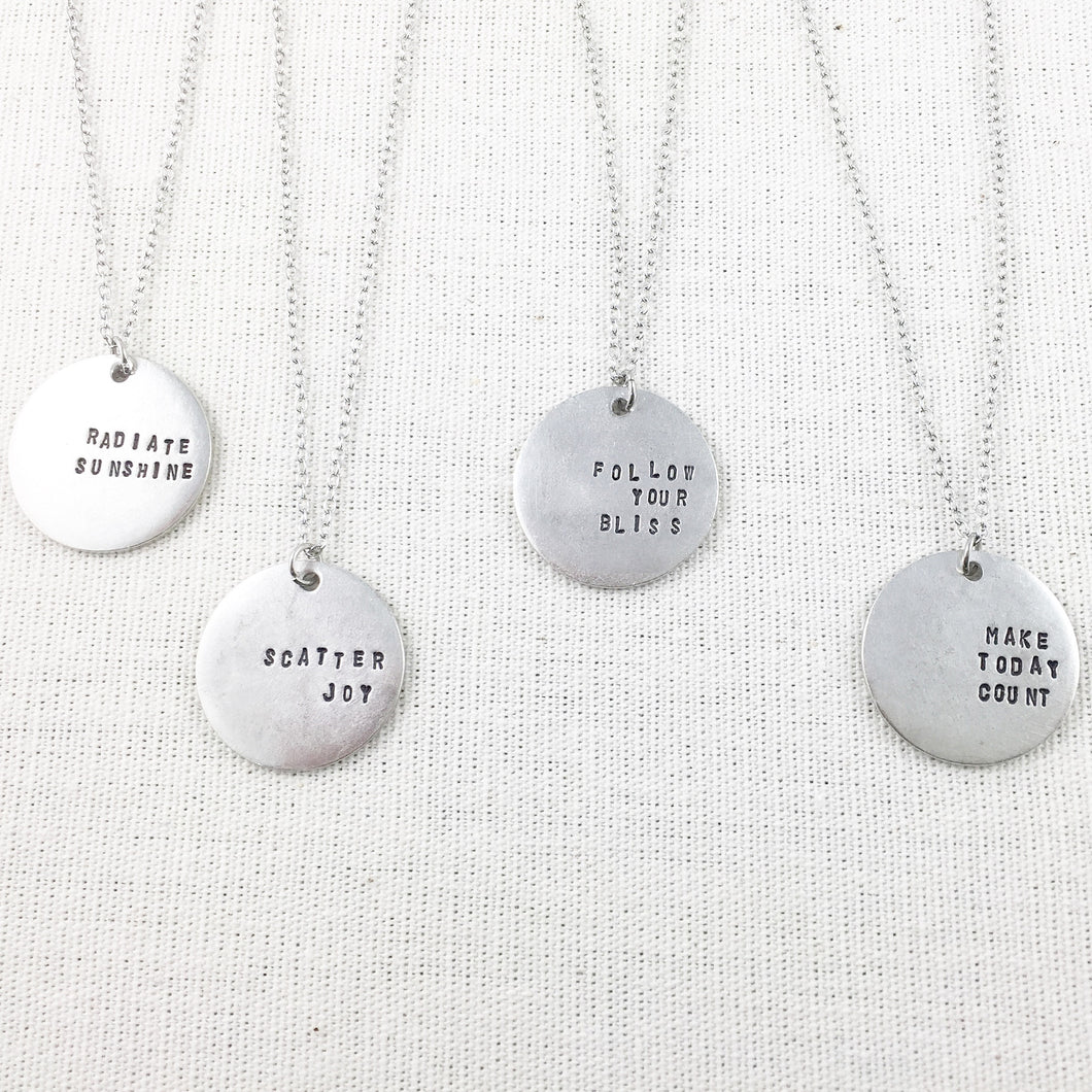Inspirational Medallion Necklace