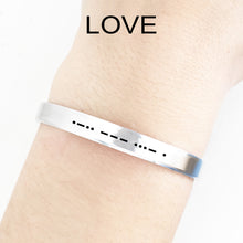 Load image into Gallery viewer, Love Morse Code Cuff