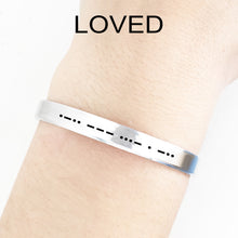 Load image into Gallery viewer, Loved Morse Code Cuff