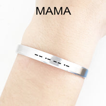 Load image into Gallery viewer, Mama Morse Code Cuff