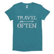 Load image into Gallery viewer, Travel Often Women's Crew Neck T-shirt