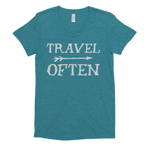 Travel Often Women's Crew Neck T-shirt