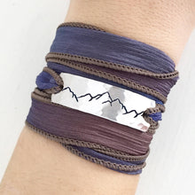 Load image into Gallery viewer, Mountain Range Silk Wrap Bracelet WC30