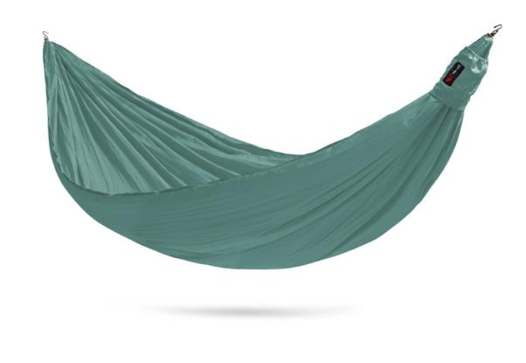 Single 1 person ultralite camping hammock with straps.
