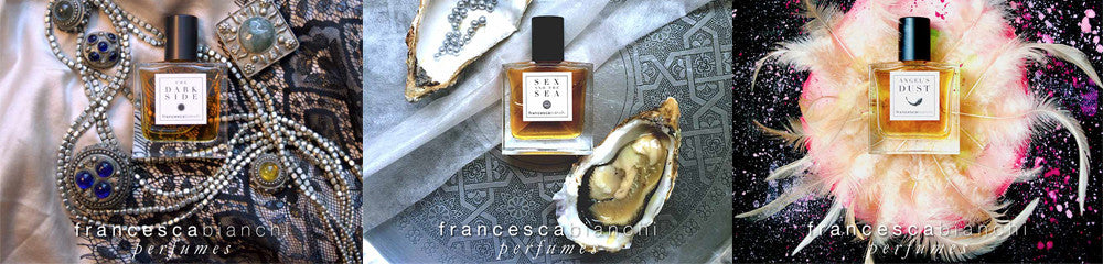 francesca bianchi perfumes the dark side, angels dust, sex and the sea