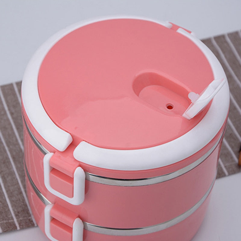 Stainless Steel Round Bento Lunch Box