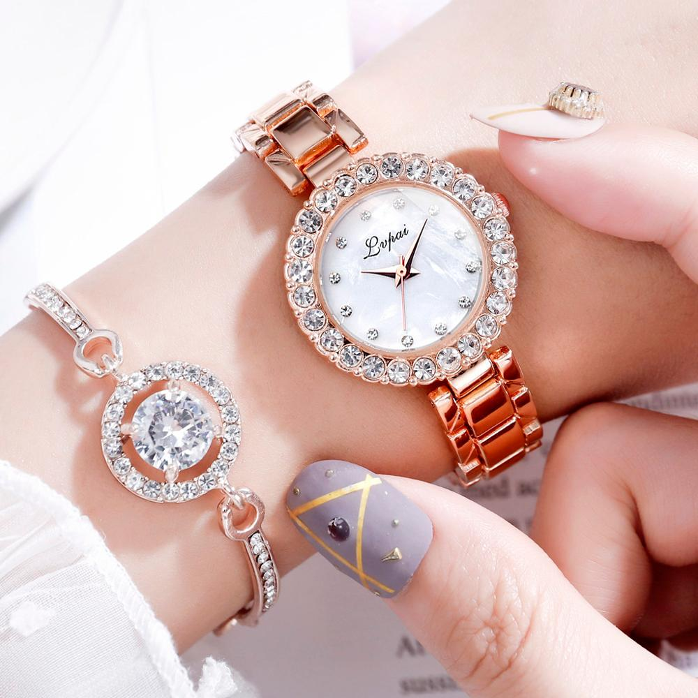 Crystal Bracelet and Watch Set