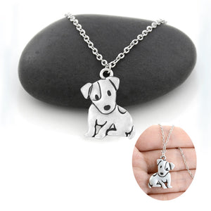 Cute Puppy Dog Pendant Necklace