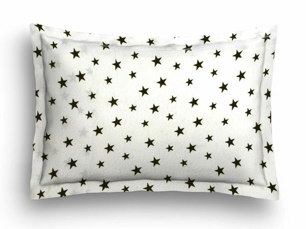 'Black Stars' Organic Baby Pillow Cover