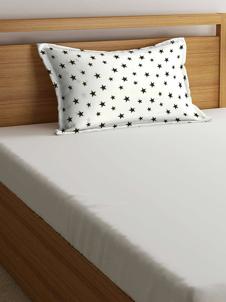 'Black Stars' Organic Junior Pillow Cover
