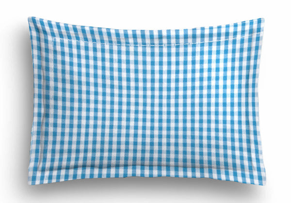 'Blue Checks' Organic Baby Pillow Cover