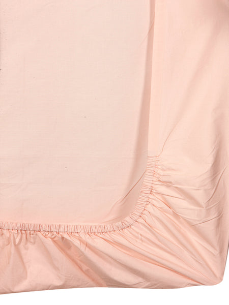 'Neutral Pink' Organic Queen Fitted Sheet