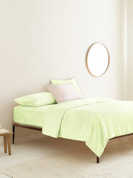 'Lime Green' Organic Queen Fitted Sheet