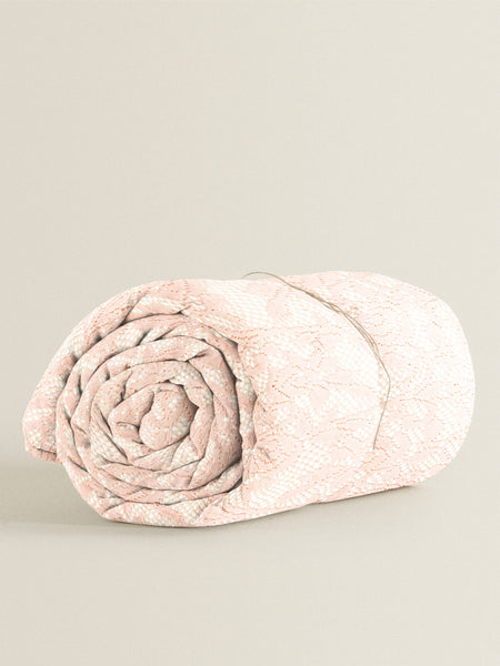 'Pink Lace' Organic Baby Blanket