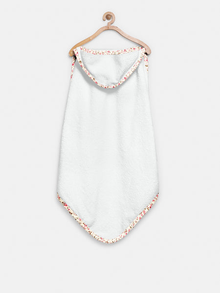'White Floral' Organic Hooded Towel Set