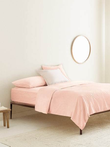 'Neutral Pink' Organic Duvet Cover