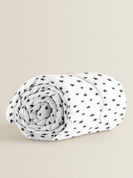 'Black Star' Organic Duvet Cover