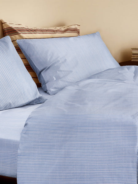 'Blue and White Stripe' Organic Duvet Cover