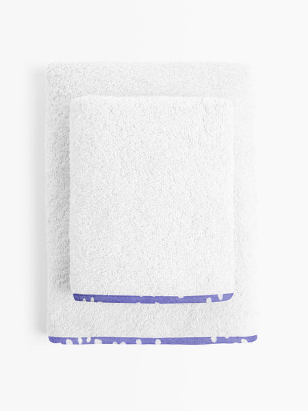 'Purple and White Spots' Organic Junior Towel Set