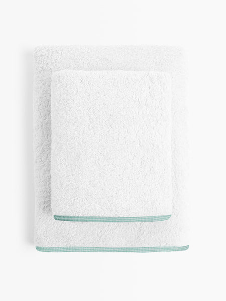 'Green Checks' Organic Junior Towel Set